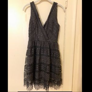 Just Me Nordstrom Lace Black Dress